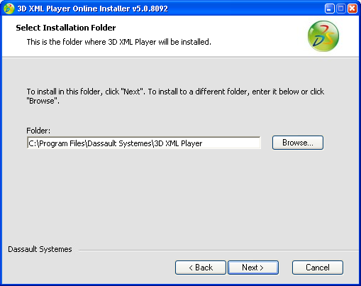 Installing and Uninstalling the 3D XML Player