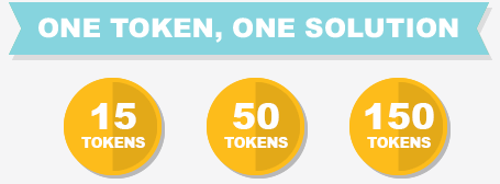 one token, one solution: 15 tokens, 50 tokens, 150 tokens